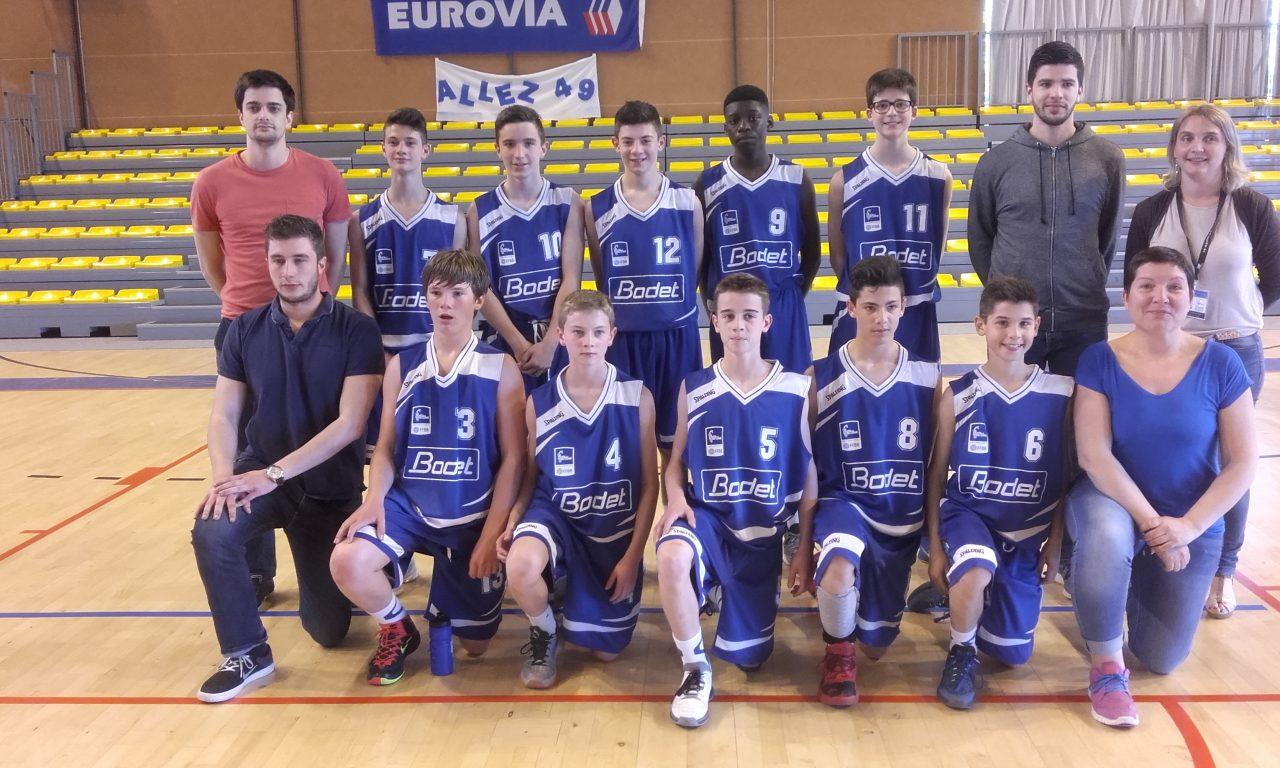 Basket : La sélection U13 masculine du Maine et Loire de Basket dispute les finales nationales des sélections départementales.