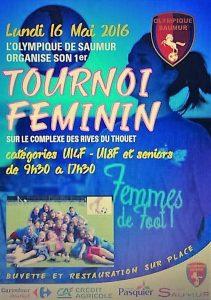 Affiche tournoi féminin O. Saumur