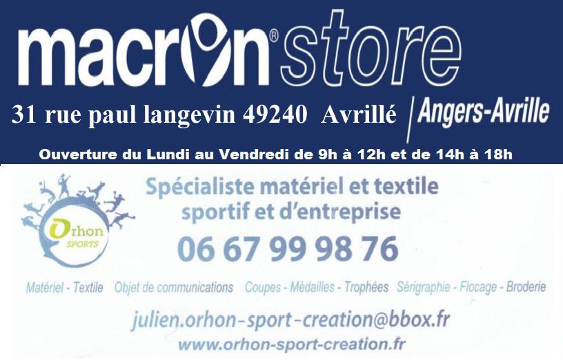 Carte De Visite Macron Store ORHON Sports