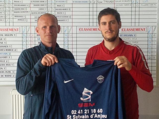 Cassien BRAJEUL et Nicolas DURANT signent à l'AS Saint Sylvain d'Anjou Football.