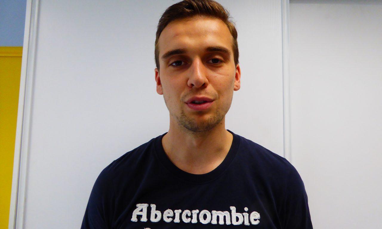Simon Mahieux le Ch'ti, fan du RC Lens.