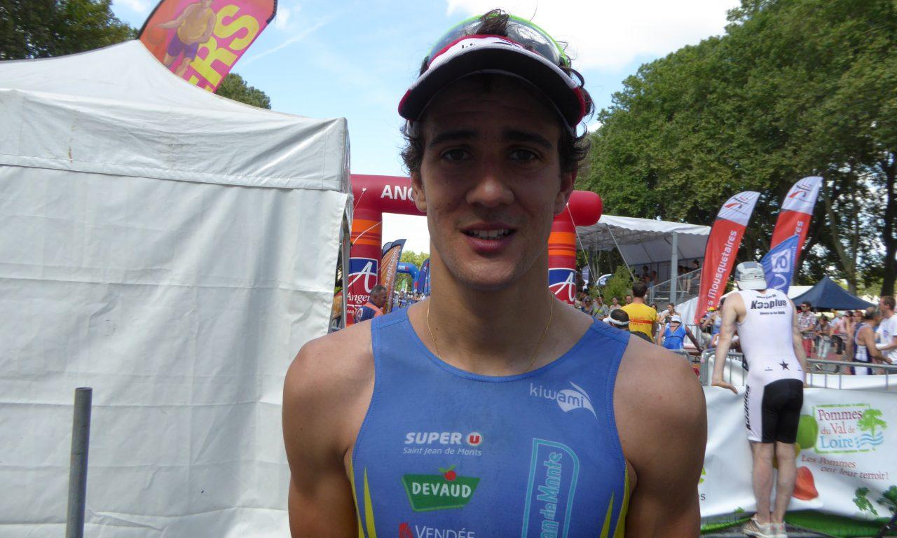 Brice DAUBORD vainqueur du Triathlon d'Angers (S), Dimanche 24 Juillet 2016.