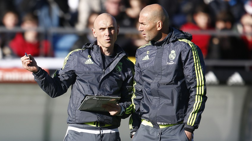 David BETTONI, l'adjoint de ZIDANE au Real Madrid, présent à la Baumette cette semaine.