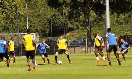 Dernier entraînement avant la reprise du championnat Ligue 1 pour Angers SCO.