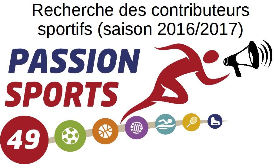 Passion Sports 49 recherche des contributeurs pour la saison 2016/2017. Rejoignez-nous !