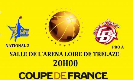 L'Étoile d'Or Saint-Léonard (NM2) accueille Cholet Basket (Pro A), pour un match de gala, à Trélazé.
