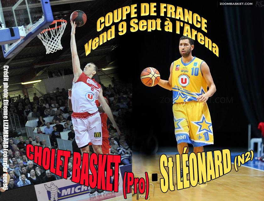 Coupe de France de Basket : Angers EO Saint-Léonard – Cholet Basket (les interviews d'avant-match)