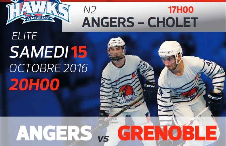 Invaincu en championnat, les Hawks d'Angers veulent confirmer face à Grenoble !