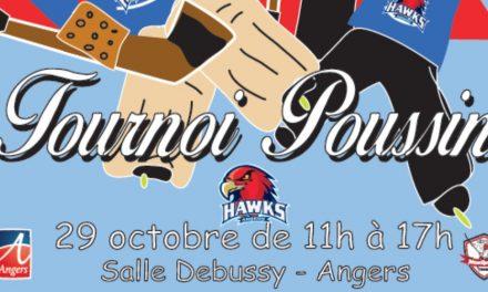 Les poussins des Hawks d'Angers entament leur saison en organisant un tournoi régional.