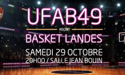LFB (5e journée) : Match de gala à Jean Bouin entre l'UFAB et le leader Basket Landes.