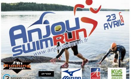 L'association AQUASPORT organise le premier «Anjou swimrun» à Angers, le 23 Avril 2017.