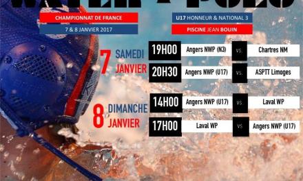 Championnat de France : Angers Water-polo accueille la 5e journée N3 et la 4e journée U17.