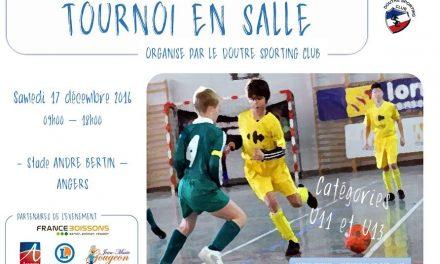 Le club de la Doutre SC organise son tournoi en salle U11 et U13.