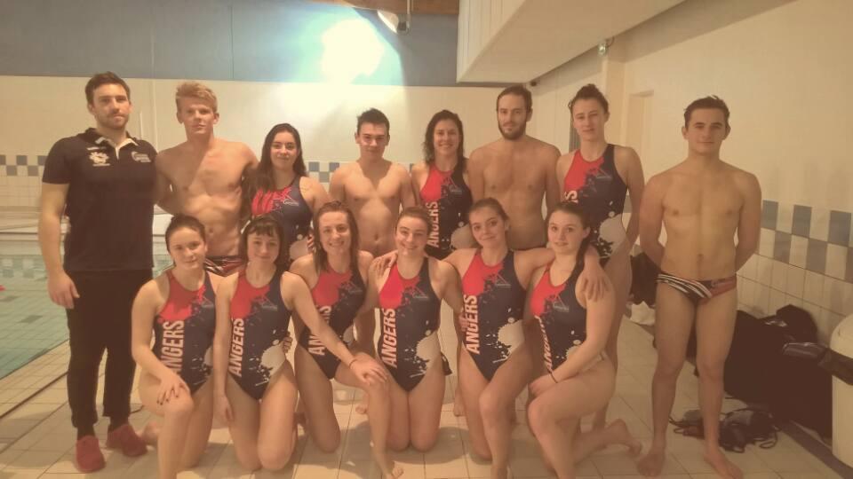 Résultats du week-end, des équipes d'Angers Natation Water-polo.