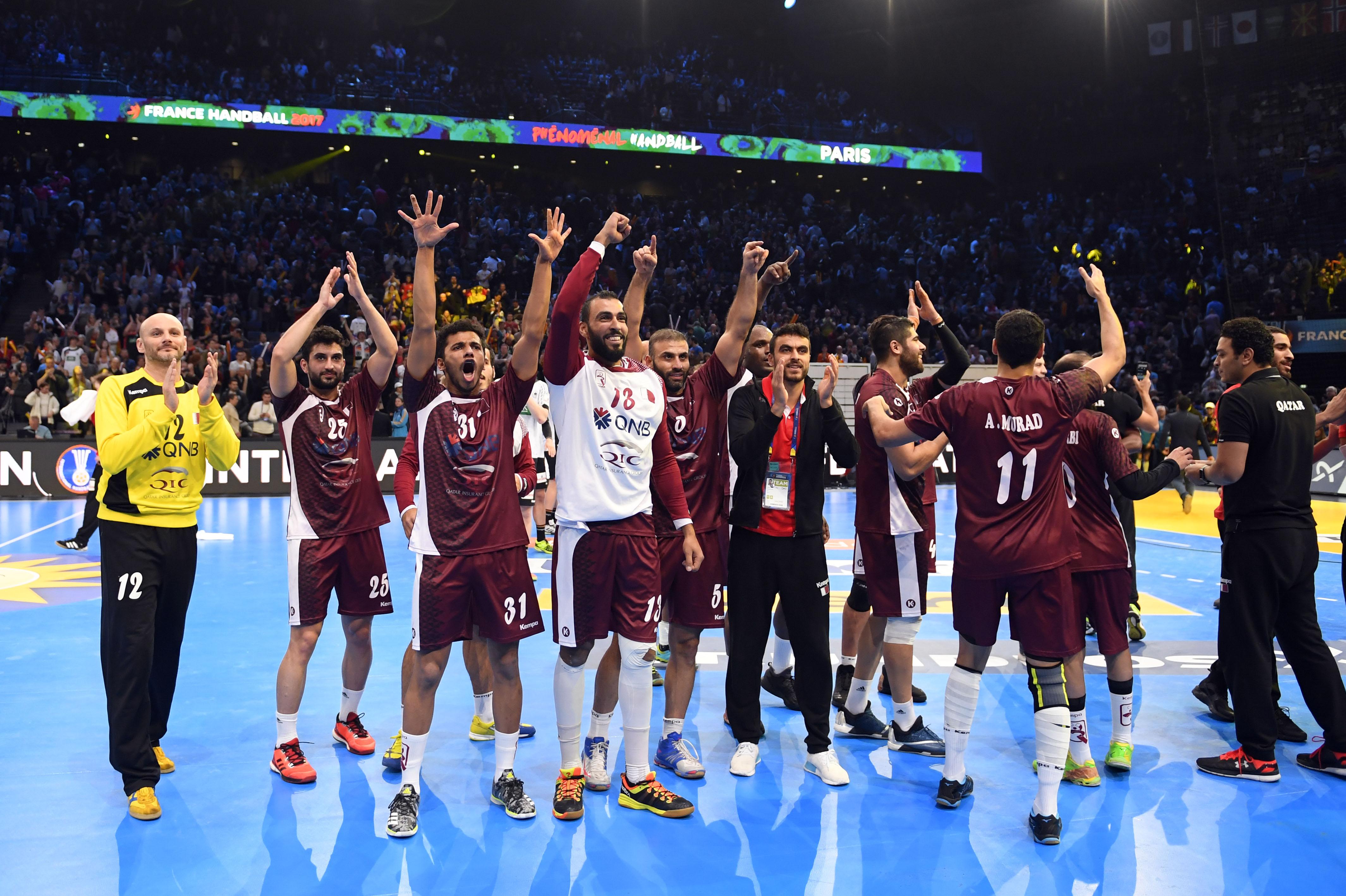 La belle joie des Qataris après leur victoire inespérée.