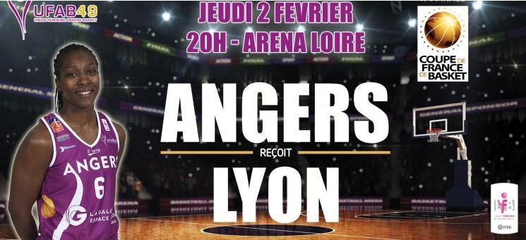 Coupe de France (1/4 de finale) : L'UFAB reçoit Lyon, ce Jeudi à 20h, à l'Aréna Loire de Trélazé.