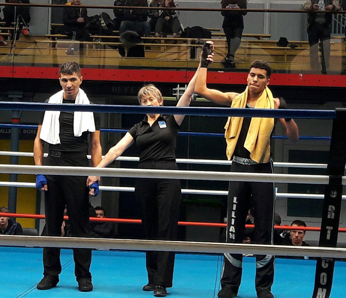 Lilian LOUISET, vainqueur de son combat (photo : AS Tiercé Boxe Française)