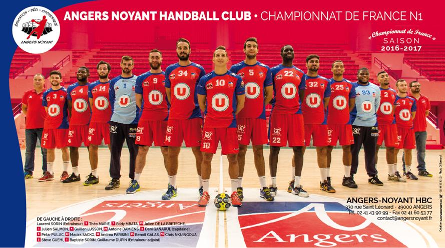 N1M (Poule Haute) : Programme du club d'Angers-Noyant Handball.