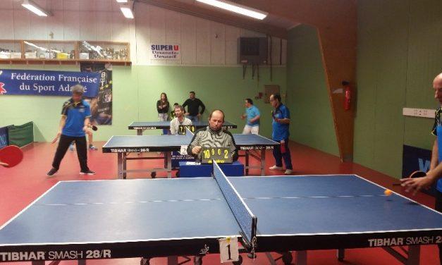 Championnat Départemental de Tennis de table Sport Adapté, ce week-end à Vernantes.