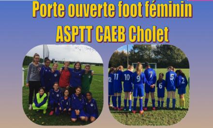 Les journées portes ouvertes du football Féminin au club l'ASPTT Cholet.