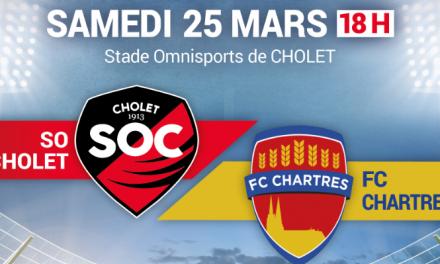 CFA (24e journée) : Le SO Cholet reçoit l'équipe du Chartres FC.