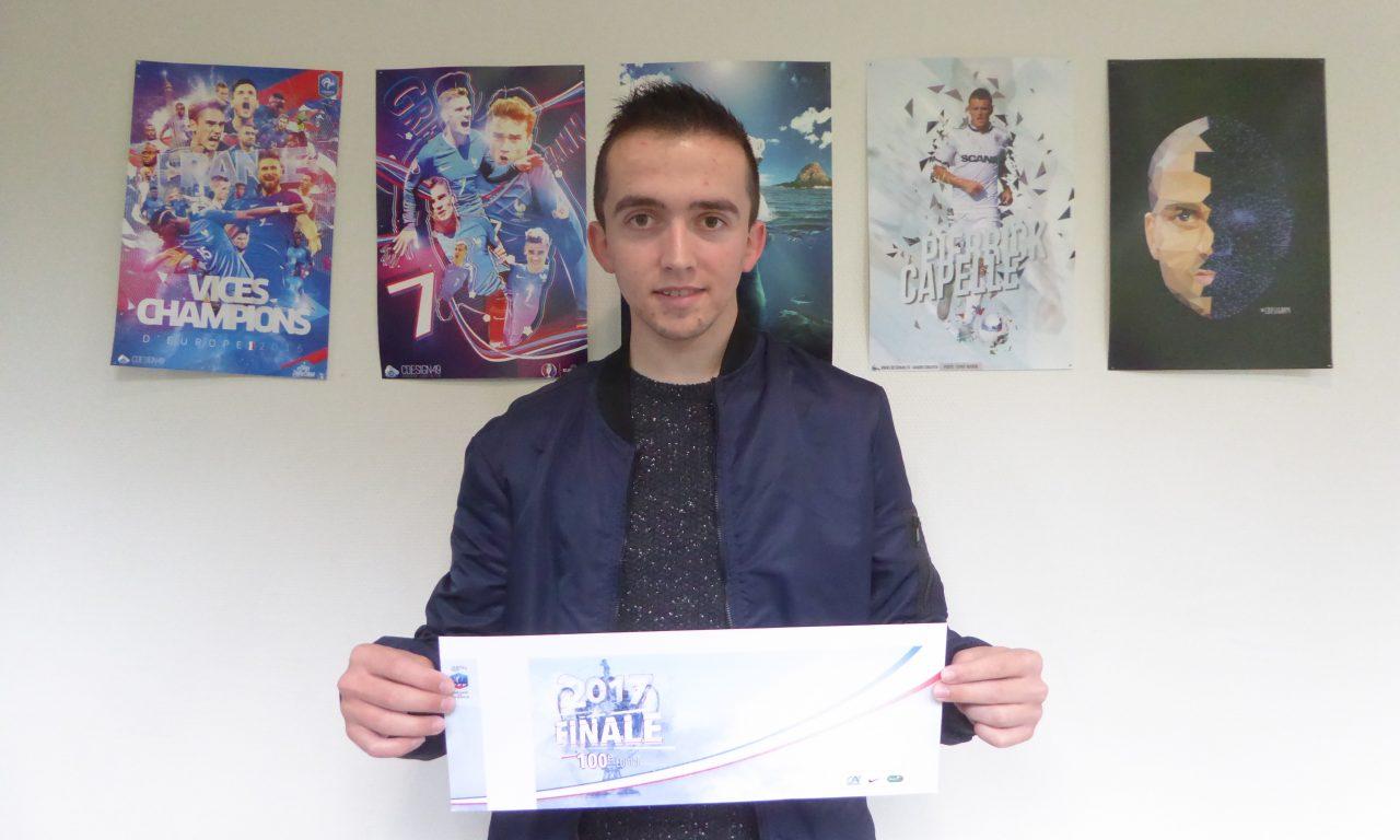Corentin DAUDIN : Créateur du visuel du billet de la finale de la Coupe de France 2017 de Football !