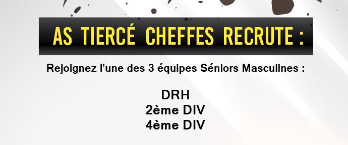 L'AS Tiercé-Cheffes recrute pour ses trois équipes seniors et son équipe U19.