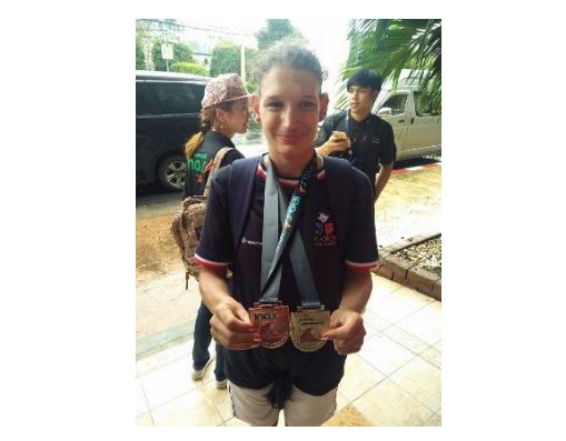Championnat du monde d'athlétisme INAS sport adapté à Bangkok.