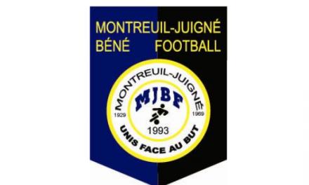 D1 (14e journée) : Défaite frustrante de Montreuil-Juigné à la Possossavennières (1-0).