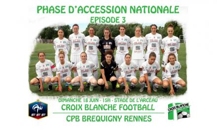 La Croix Blanche Angers Football prend une option face à Bréquigny Rennes (2-1).