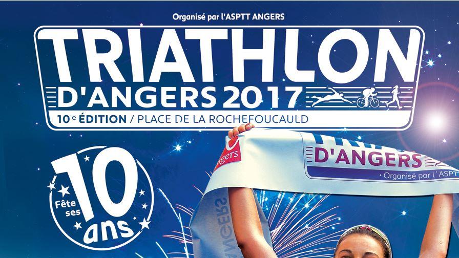 L'ASPTT Angers organise tout le week-end, la dixième édition du Triathlon d'Angers.