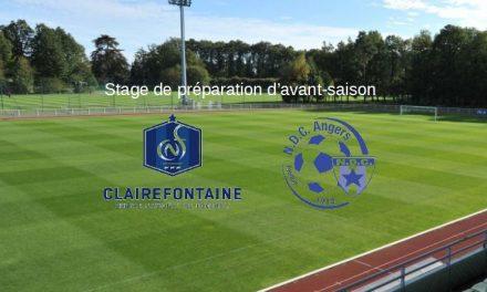 Les joueurs d'Angers NDC sont à l'INF Clairefontaine, ce week-end, en stage de préparation.