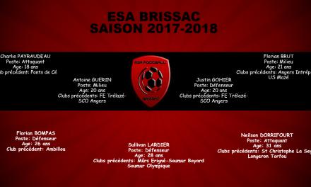L'ES Brissac officialise sept nouvelles arrivées.