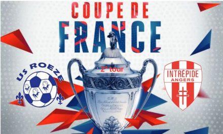 Coupe de France (2e tour) : Qualification au courage de l'Intrépide à Roezé-sur-Sarthe (2-1).