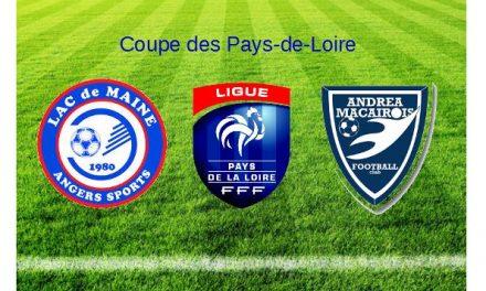Coupe des Pays-de-Loire : Le Lac de Maine élimine Saint-André-Saint-Macaire (2-1).