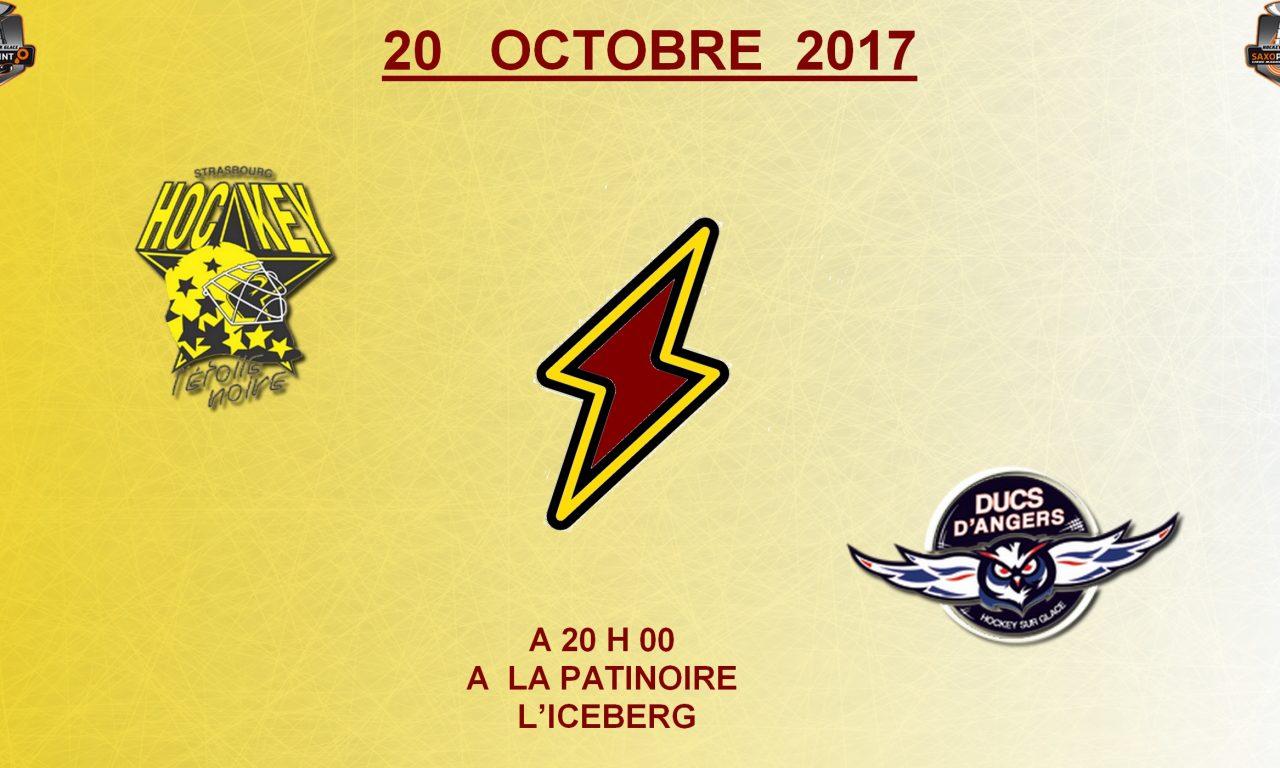 Ligue Magnus (15e journée) : Les Ducs d'Angers se déplacent à l'Étoile Noire de Strasbourg, ce soir, 20h00 !