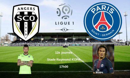 Ligue 1 (12e journée) : Angers SCO reçoit le Paris Saint-Germain.