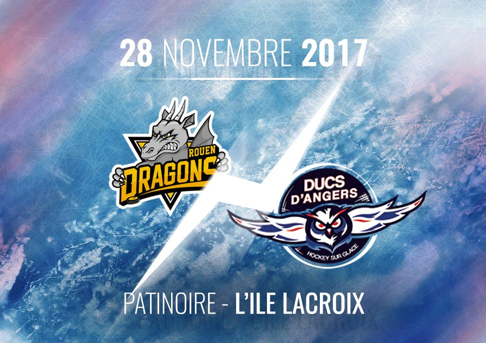 Ligue Magnus (24e journée) : Les Ducs d'Angers se déplacent chez les Dragons de Rouen, ce mardi, à 20h00 !