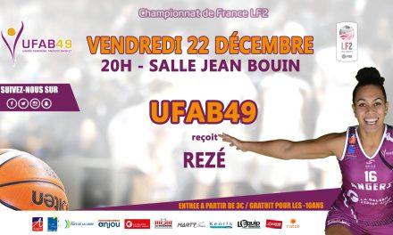 LF2 (12e journée) : L'UFAB reçoit Saint-Paul Rezé, ce  vendredi, à la salle Jean Bouin !