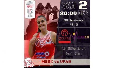 NF2 (9e journée) : Derby très attendu entre Mûrs-Erigné et l'Union Féminine Angers Basket (espoir).