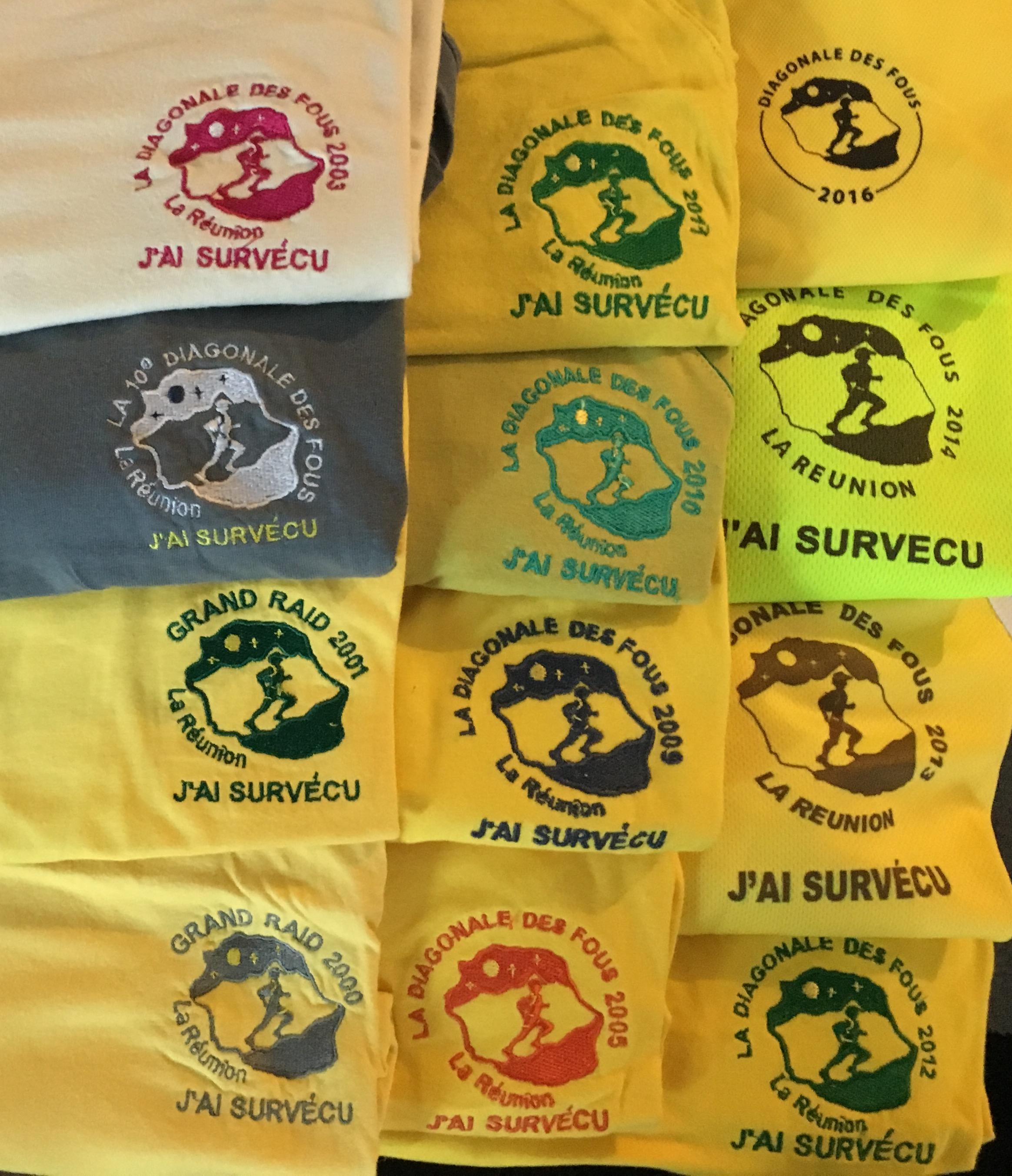 Tee-shirt finisher Diagonale des Fous (Ile de la Réunion).