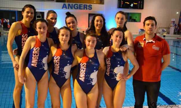 L'équipe Féminine d'Angers Natation Water Polo a encore les barrages à disputer.