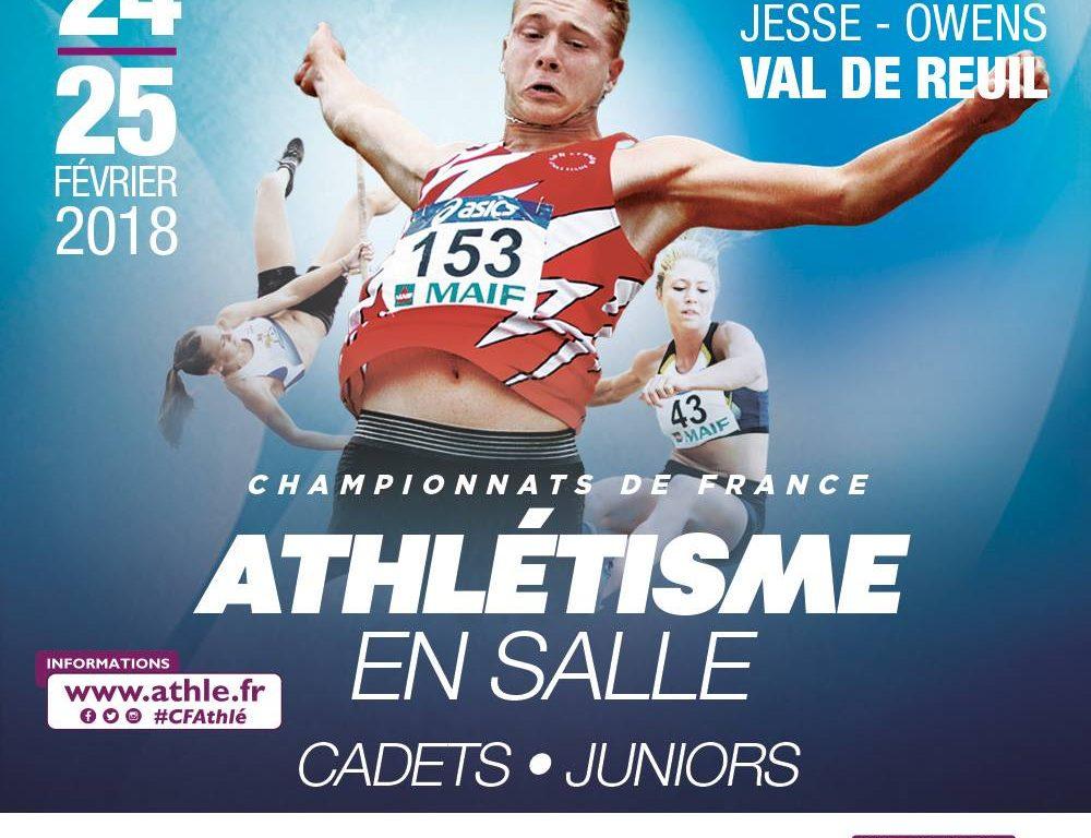 Championnats de France en salle : les cadets et juniors qualifiés pour Val de Reuil.