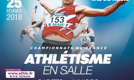 Championnats de France en salle : Paul Chabauty double médaillé.