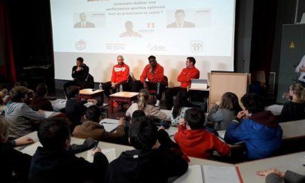 Dans les pas des géants ! Les collégiens de Mongazon à la rencontre des sportifs professionnels.