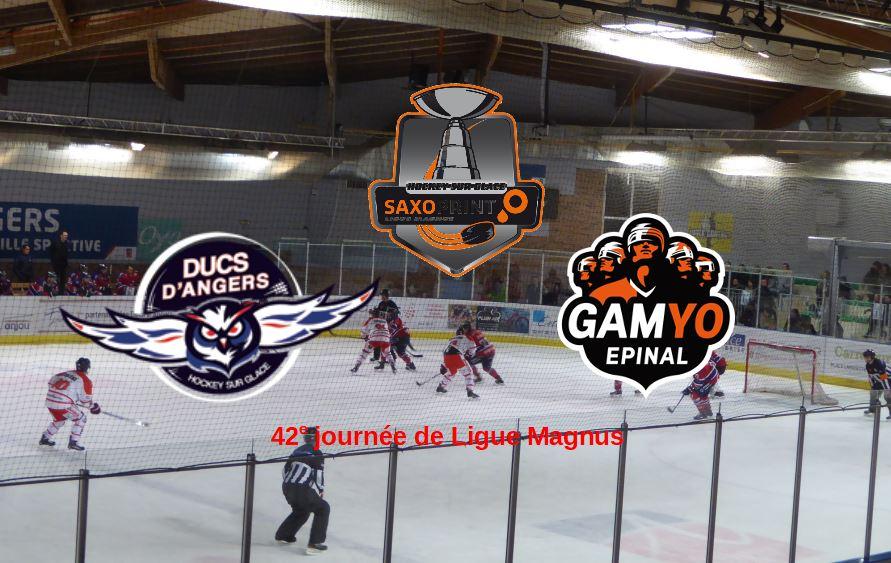 Ligue Magnus (43e journée) : Match à enjeu, ce soir, entre Angers et Épinal à la patinoire du Haras !