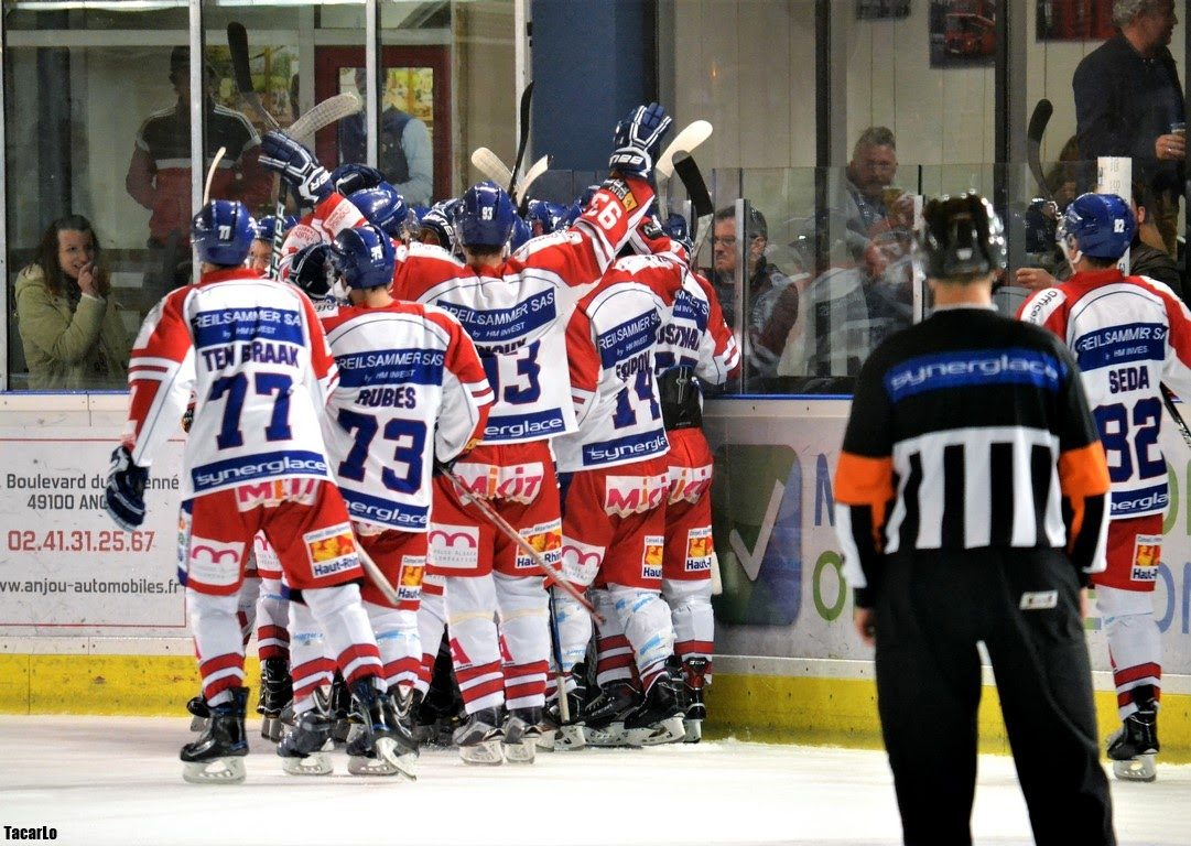 Ligue Magnus (44e journée) : Mulhouse arrache sa place en play-offs en s'imposant face à Angers (4-3).