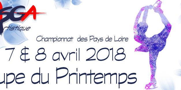 L'ASGA Patinage Artistique organise sa traditionnelle Coupe du Printemps 2018, Finale Régionale de Patinage Artistique.
