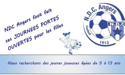 Angers NDC ouvre ses portes, le 19 Mai et les 9 et 22 Juin, pour sa section féminine !