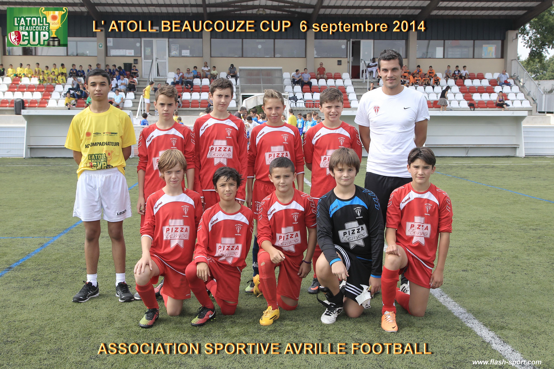 Génération U13 (2014-2015) lors de l'Atoll Cup de Beaucouzé.